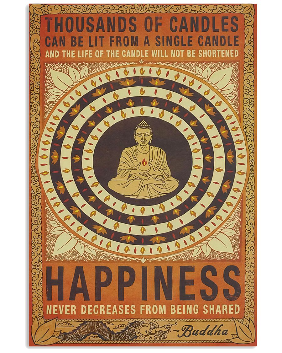 Yoga Happiness Never Decreases From Being Shared 11x17 Poster