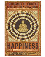 Yoga Happiness Never Decreases From Being Shared 11x17 Poster front