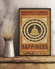 Yoga Happiness Never Decreases From Being Shared 11x17 Poster lifestyle-poster-3