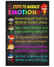 Teacher 5 Steps To Manage Emotions 11x17 Poster front