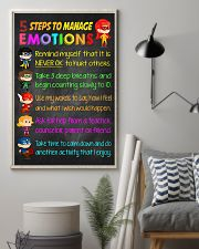 Teacher 5 Steps To Manage Emotions 11x17 Poster lifestyle-poster-1