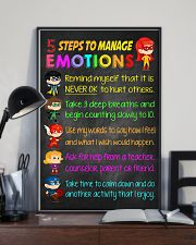 Teacher 5 Steps To Manage Emotions 11x17 Poster lifestyle-poster-2