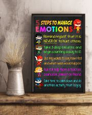 Teacher 5 Steps To Manage Emotions 11x17 Poster lifestyle-poster-3