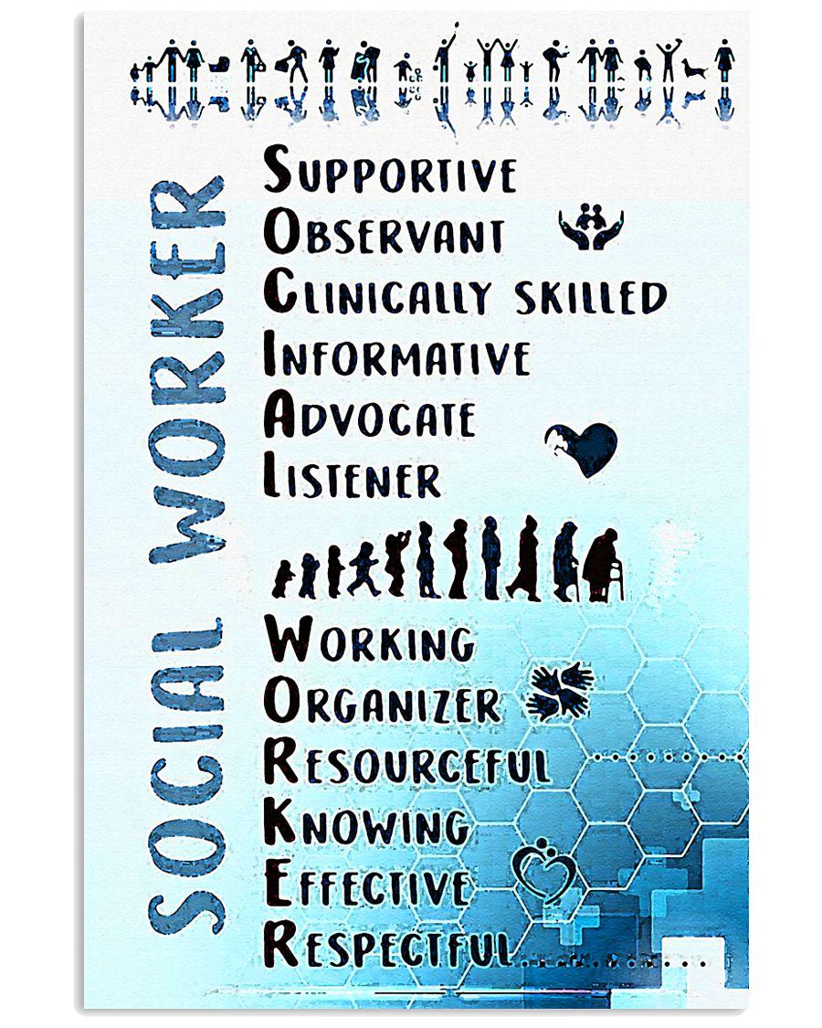 Social Worker Wording 11x17 Poster