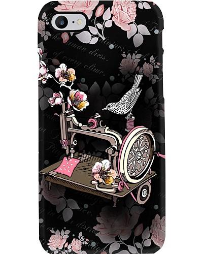 Sewing Flower Black