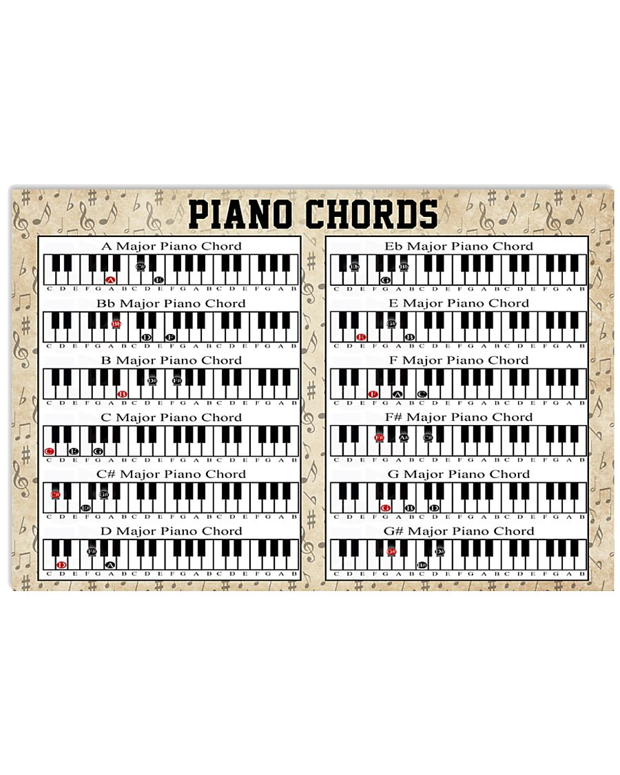 Pianist Piano Chord 17x11 Poster