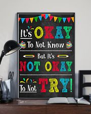 Teacher It's Okay To Not Know 11x17 Poster lifestyle-poster-2