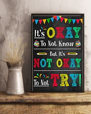 Teacher It's Okay To Not Know 11x17 Poster lifestyle-poster-3