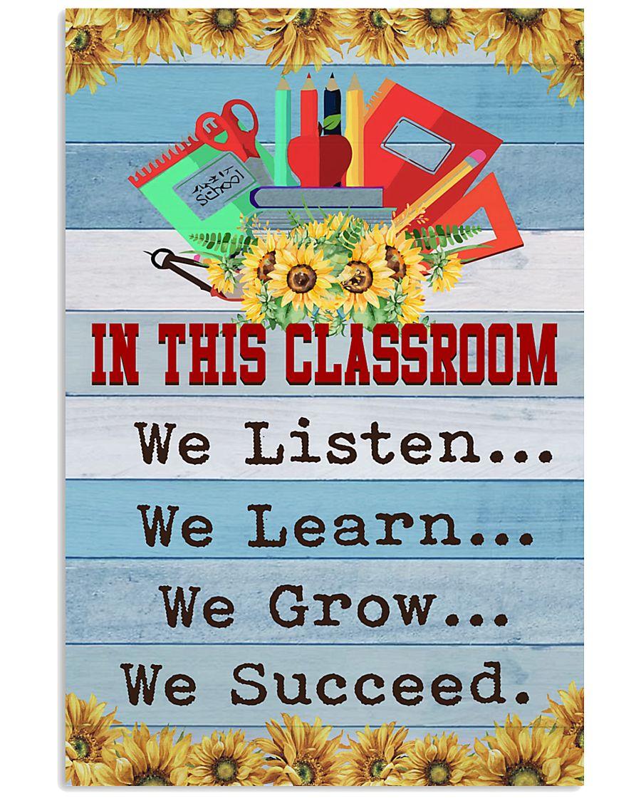 We Succeed Teacher 11x17 Poster