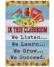 We Succeed Teacher 11x17 Poster front