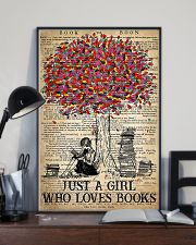 Just A Girl Who Loves Books 11x17 Poster lifestyle-poster-2