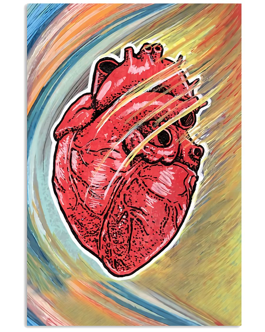 Cardiologist Colorful Heart 11x17 Poster