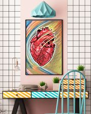 Cardiologist Colorful Heart 11x17 Poster lifestyle-poster-6