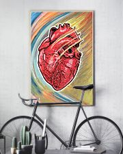 Cardiologist Colorful Heart 11x17 Poster lifestyle-poster-7