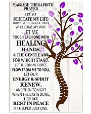 Massage Therapist's Prayer 11x17 Poster front