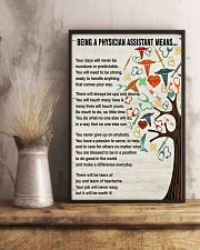 Being A Physician Assistant Means 11x17 Poster lifestyle-poster-3