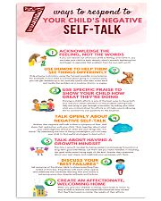 Social Worker Ways To Respond To Negative Talk 11x17 Poster front