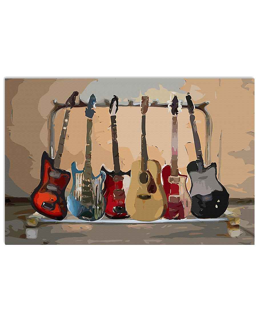 Guitar Watercolor Band 17x11 Poster