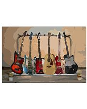Guitar Watercolor Band 17x11 Poster front