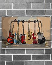 Guitar Watercolor Band 17x11 Poster poster-landscape-17x11-lifestyle-18