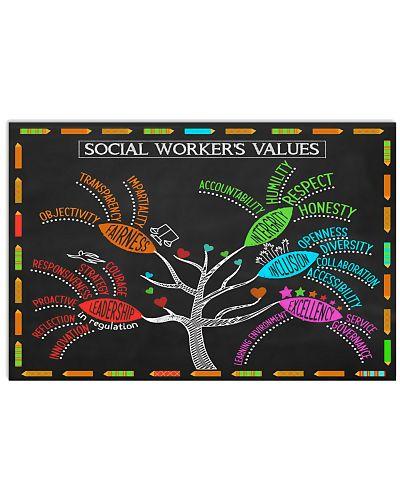 Social Worker's Value Poster