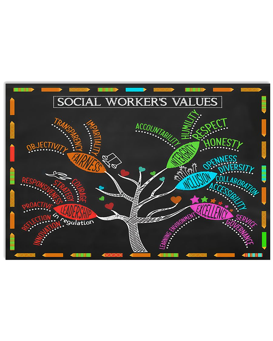 Social Worker's Value Poster 17x11 Poster