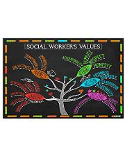 Social Worker's Value Poster 17x11 Poster front