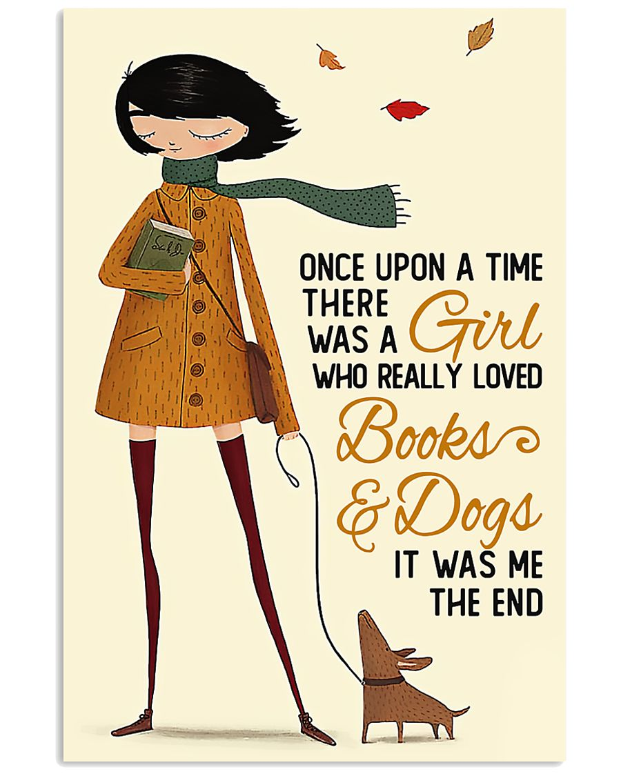 Book Lover A Girl Who Really Loved Books And Dogs 11x17 Poster