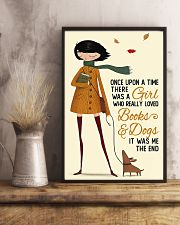 Book Lover A Girl Who Really Loved Books And Dogs 11x17 Poster lifestyle-poster-3