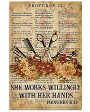 Hairstylist She Works Willingly With Her Hands 11x17 Poster front