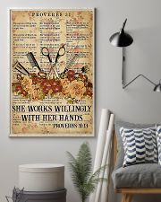 Hairstylist She Works Willingly With Her Hands 11x17 Poster lifestyle-poster-1