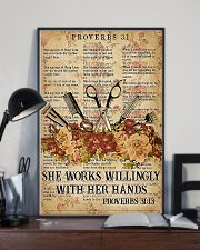 Hairstylist She Works Willingly With Her Hands 11x17 Poster lifestyle-poster-2