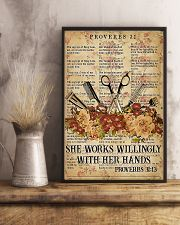 Hairstylist She Works Willingly With Her Hands 11x17 Poster lifestyle-poster-3