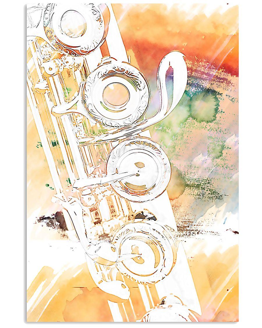 Art Watercolor Flute  11x17 Poster