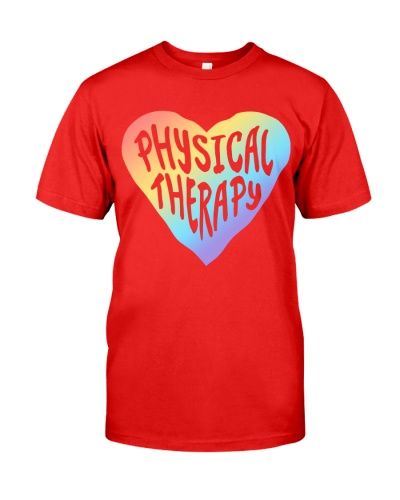 Physical Therapist Colorful Heart