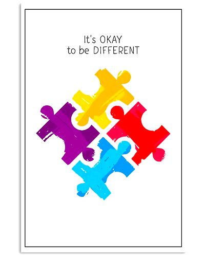 Autism Awareness It's Okay to Be different