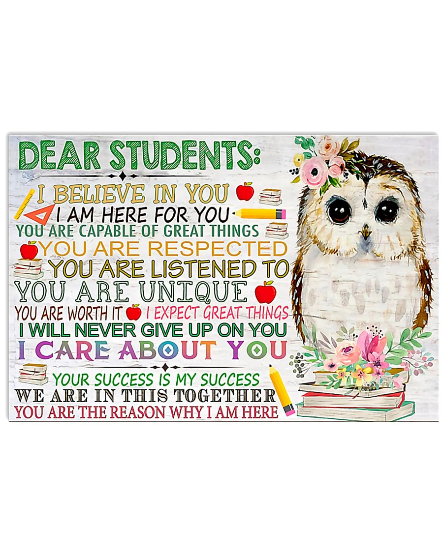 Teacher You Are The Reason Why I Am Here 17x11 Poster