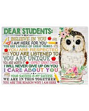 Teacher You Are The Reason Why I Am Here 17x11 Poster front