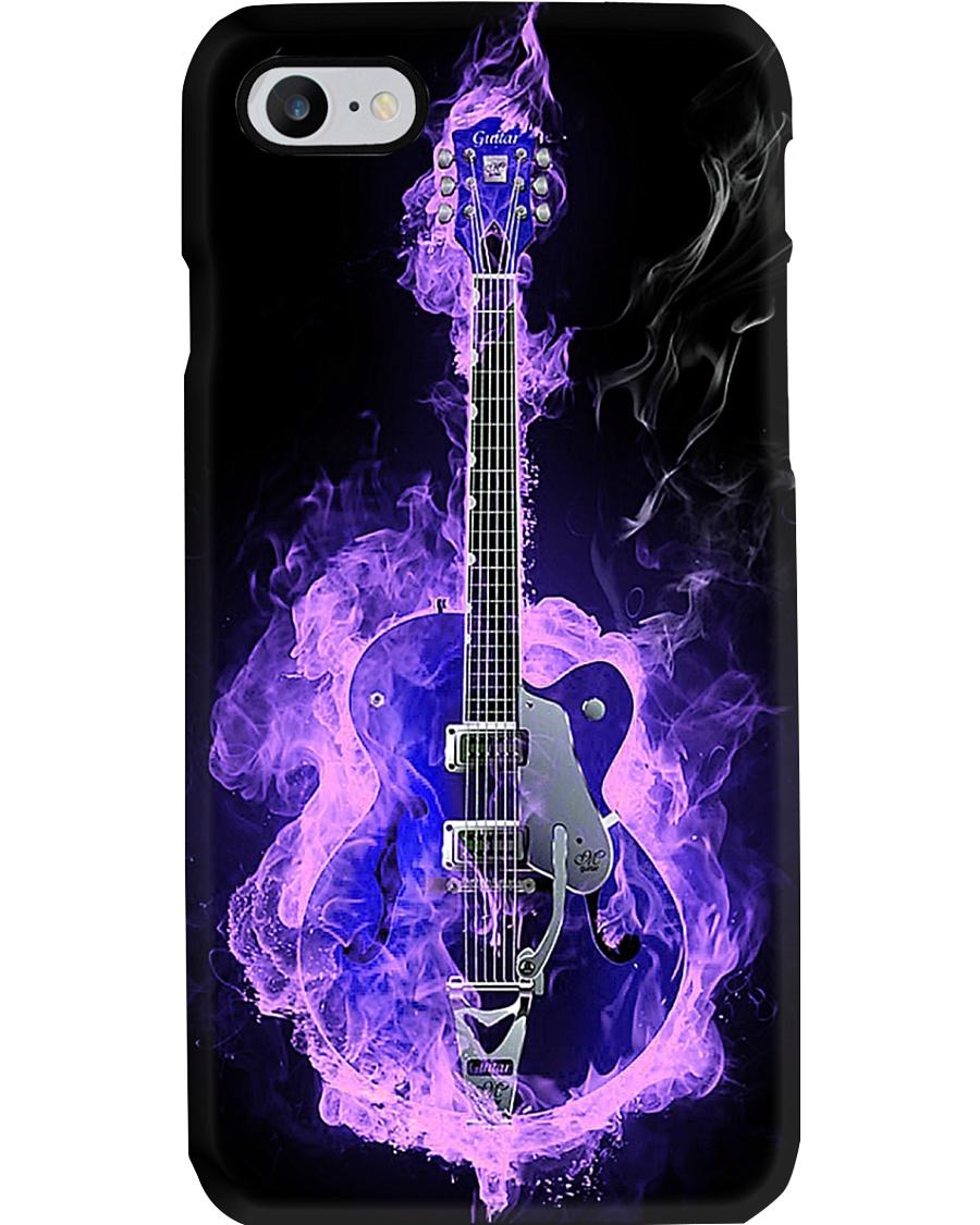 Purple Flaming Guitar Phone Case