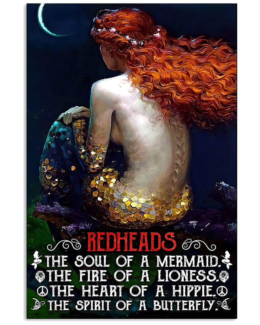 Redhead Girl The Soul Of A Mermaid 11x17 Poster