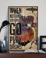 Drummer When Nothing Goes Right Go Play Drum 11x17 Poster lifestyle-poster-2