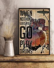 Drummer When Nothing Goes Right Go Play Drum 11x17 Poster lifestyle-poster-3