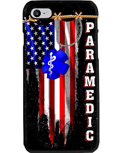 Paramedic Logo American Flag