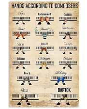 Piano Hands According To Composers 11x17 Poster front
