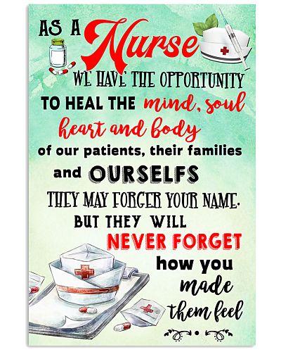 As a nurse Poster