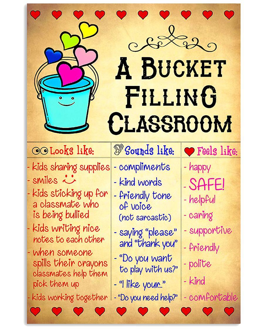Teacher A Bucket Filling Classroom 11x17 Poster