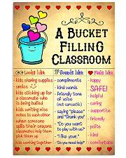 Teacher A Bucket Filling Classroom 11x17 Poster front