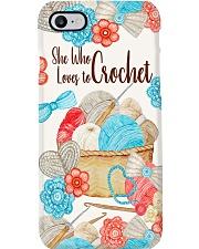 Crochet and Knitting She Who Loves To Crochet Phone Case i-phone-8-case