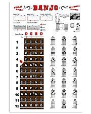 Banjo Detail Chords 11x17 Poster front