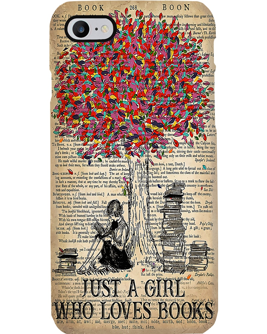 Just A Girl Who Loves Books Phone Case